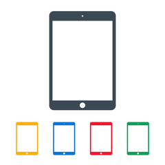 tablet icons colored set on the white background. stock vector illustration eps10