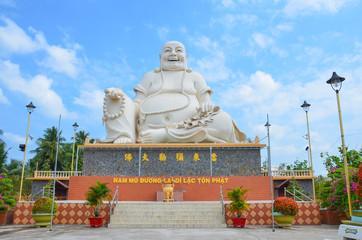 Buddha statue at Vinh Trang pagoda, My Tho, Vietnam