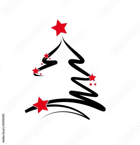 weihnachtsbaum mit roten sternen stockfotos und. Black Bedroom Furniture Sets. Home Design Ideas