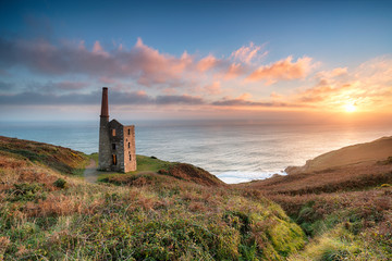 Wall Mural - Sunset at Rinsey Head