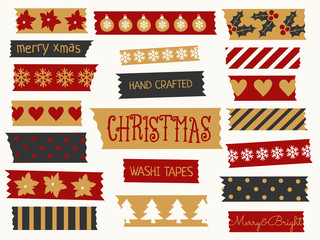 Wall Mural - Christmas Washi Tape Collection