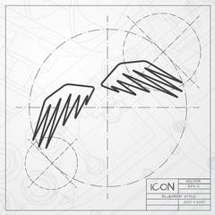 Vector wings icon