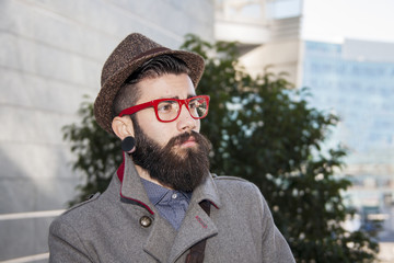 portrait of young hipster businessman
