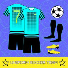 Uniform Soccer Team Sportswear Template