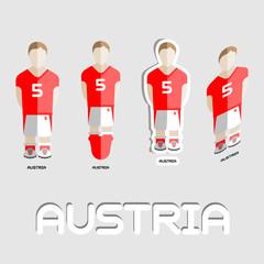 Austria Soccer Team Sportswear Template
