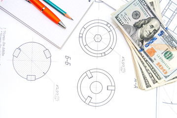 Engineering drawings Shaper Cutters with dollars, tools