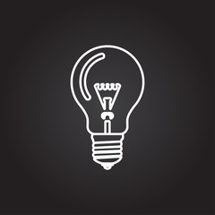 Vector lightbulb icon
