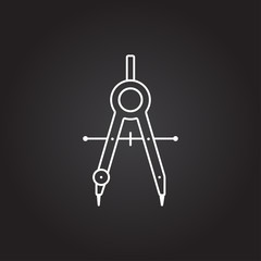 Vector compasses icon
