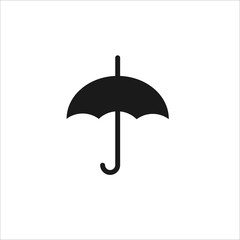 black umbrella flat vector icon