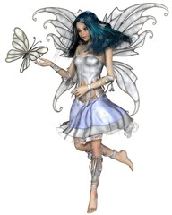 Snowflake Butterfly Fairy - fantasy illustration