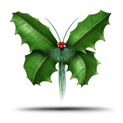 Magical Holiday Holly Butterfly
