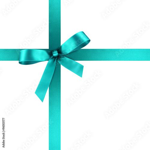 t rkisfarbene blaue geschenkschleife und geschenkband aus blauem satin geschenk schleife. Black Bedroom Furniture Sets. Home Design Ideas