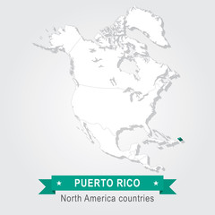 Puerto Rico. All the countries of North America.