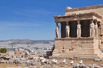 Erechtheion temple at Acropolis, Athens, Greece