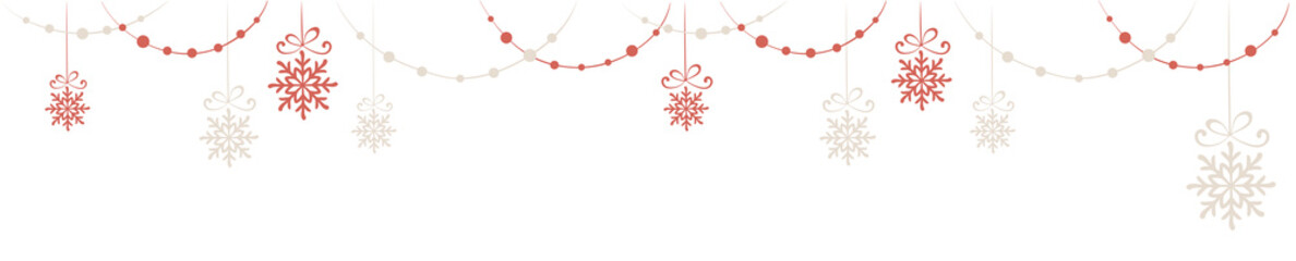 Horizontal narrow banner - Christmas decorations