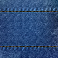 Realistic Denim blue Cloth Texture