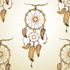 dream catcher Seamless pattern