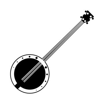 Banjo black icon