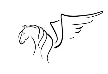 head and wings of Pegasus
