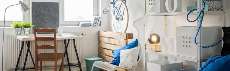 Bright studio flat interior