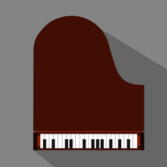 Piano flat icon