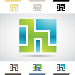Logo Shapes and Icons of Letter H
