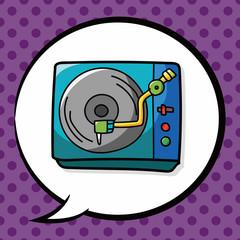 DJ disk doodle, speech bubble