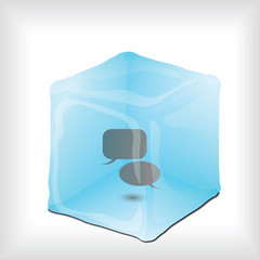 Background with Icon in Ice cube