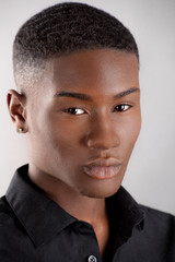 Portrait of Handsome Young Black Man