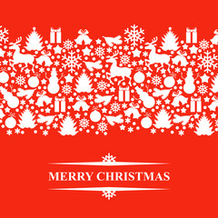 Christmas patterned card