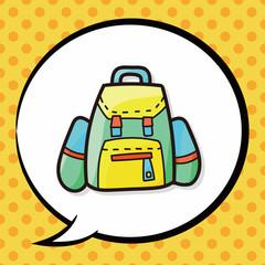 bag color doodle , speech bubble