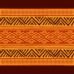 Ethnic Geometric Pattern. Vector Illustration