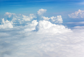 Cumulus clouds from above