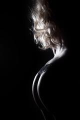 Sexy Frauen Hintern im Licht und Schatten