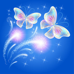 Butterflies and glowing salute