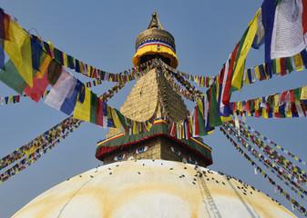 Buddhist stupa Boudnath monument in Kathmandu