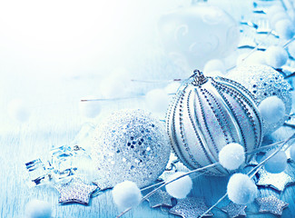 Christmas and New Year decorations border design
