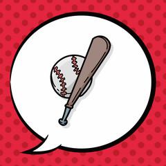 baseball doodle, speech bubble