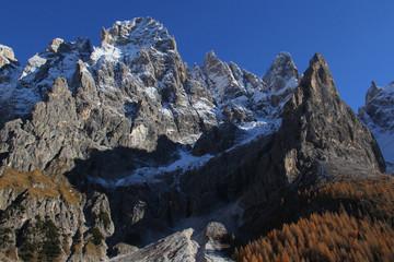 autunno in val Venegia; i Burelloni