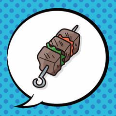 BBQ doodle, speech bubble