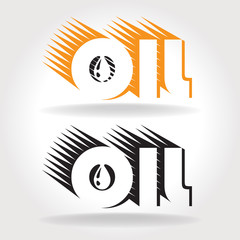 oil logo template