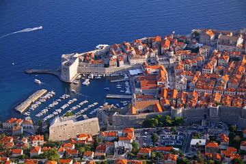 View of Dubrovnik from a nearby hill.