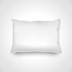 White vector pillow.