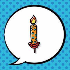 candle doodle, speech bubble