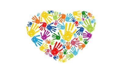 love hand logo,  social community hearth of  hand  vector logo design