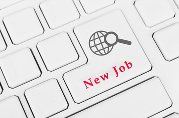 Dream job concept. Keyboard close-up
