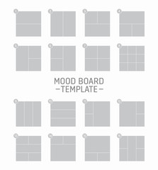Vector mood board template