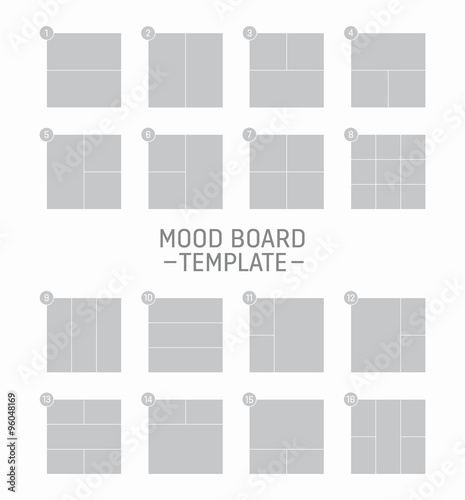 vector mood board template stock image and royalty free vector