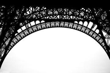 part of Eiffel tower Paris France