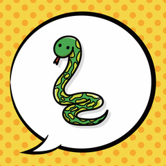 animal snake doodle, speech bubble